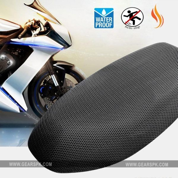 Motorcycle Seat Heat Mesh Net Cover Sunscreen Cool Cushion Protector Sun Block Heat Insulation Mesh Pad